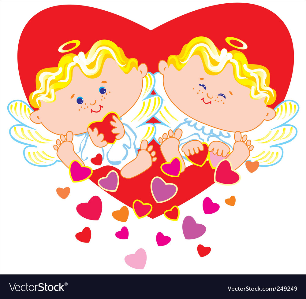 Two angels vector