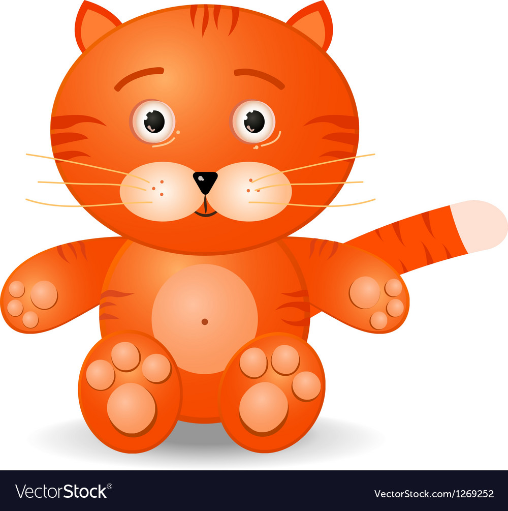 Tiget toy icon vector