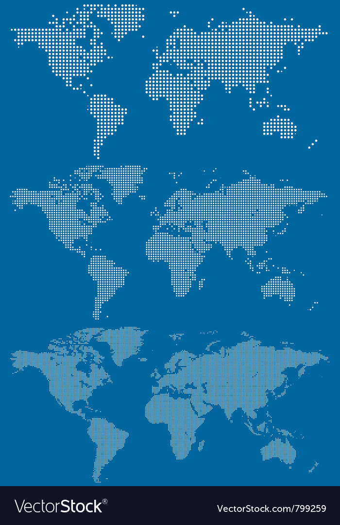 World maps vector