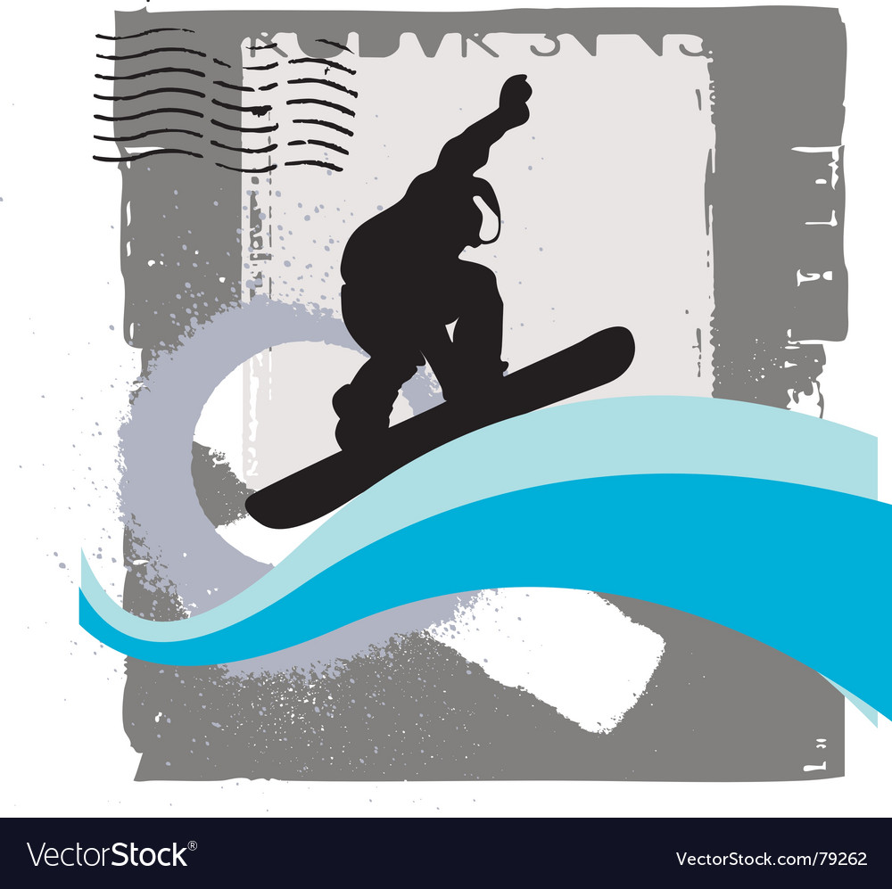 Free snowboarder vector