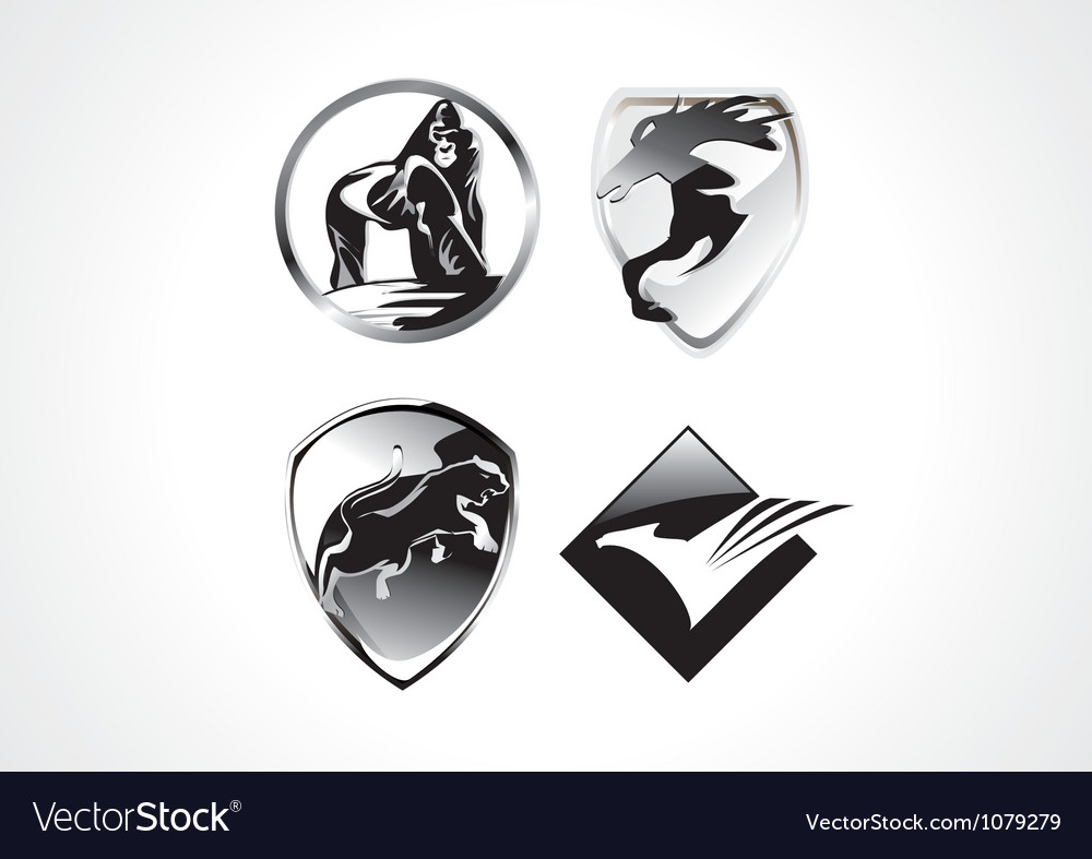 Cool amimal symbol vector