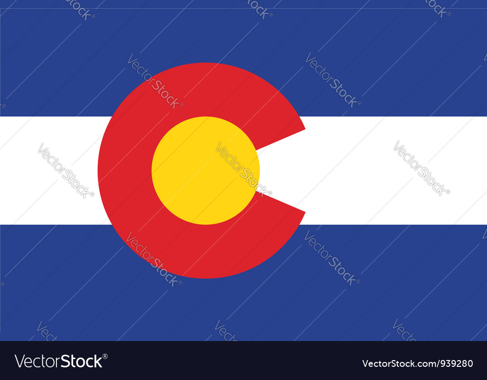 Colorado flag vector