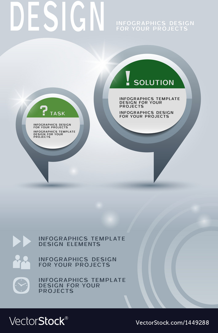Brochure design with infographic elements vector
