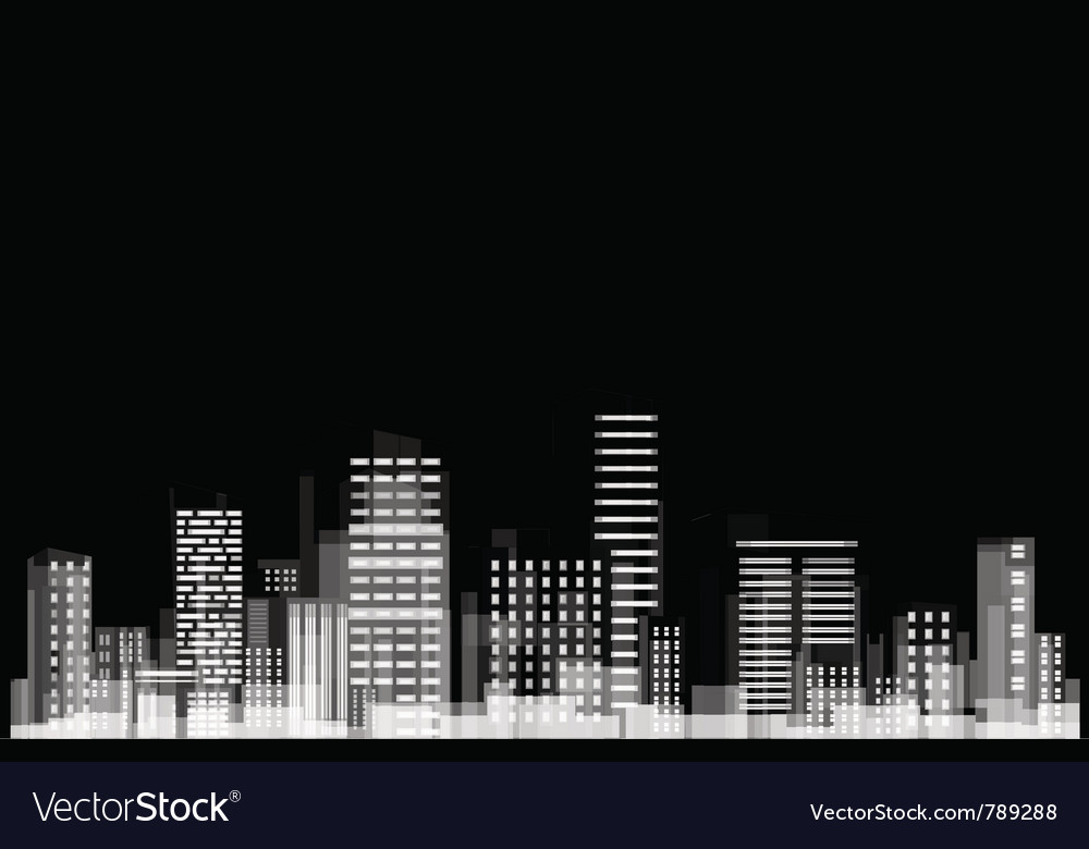 Panorama of city vector