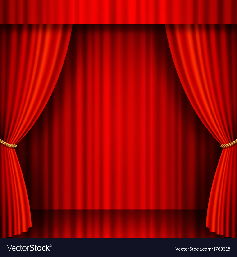 Red theater stage vector