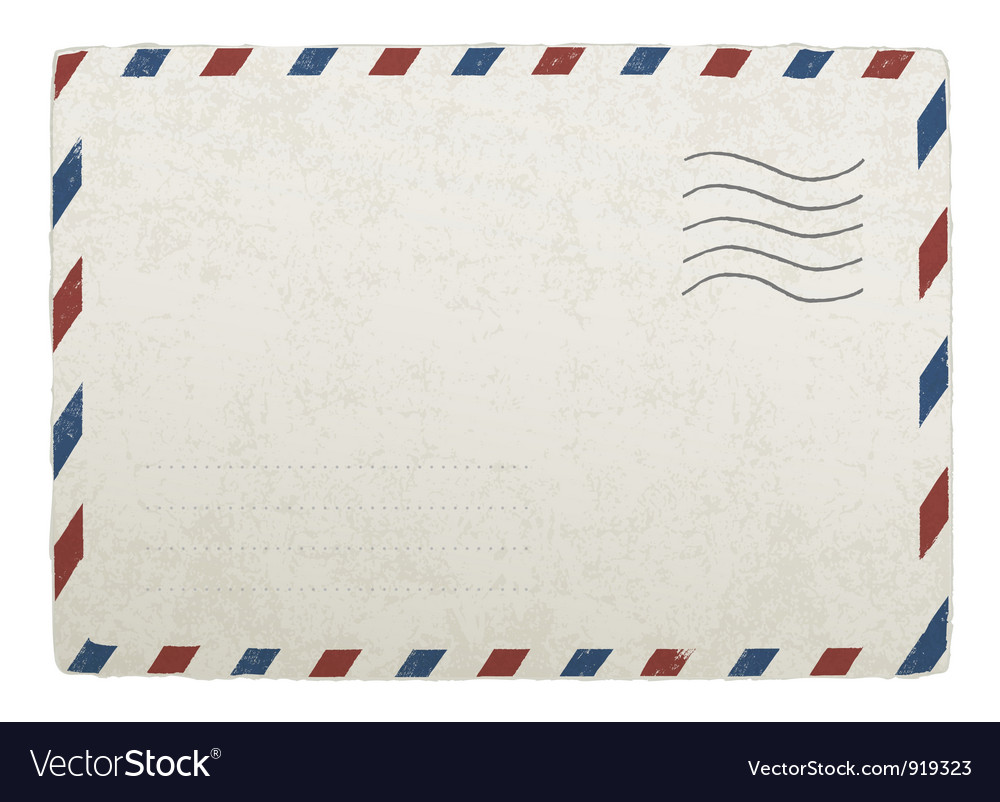 Old envelope template vector