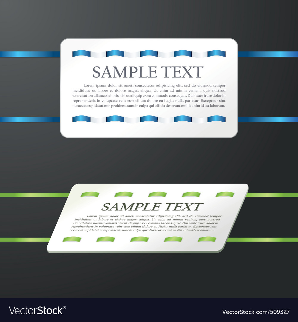 Glossy banner the stitched colour ribbon ca vector