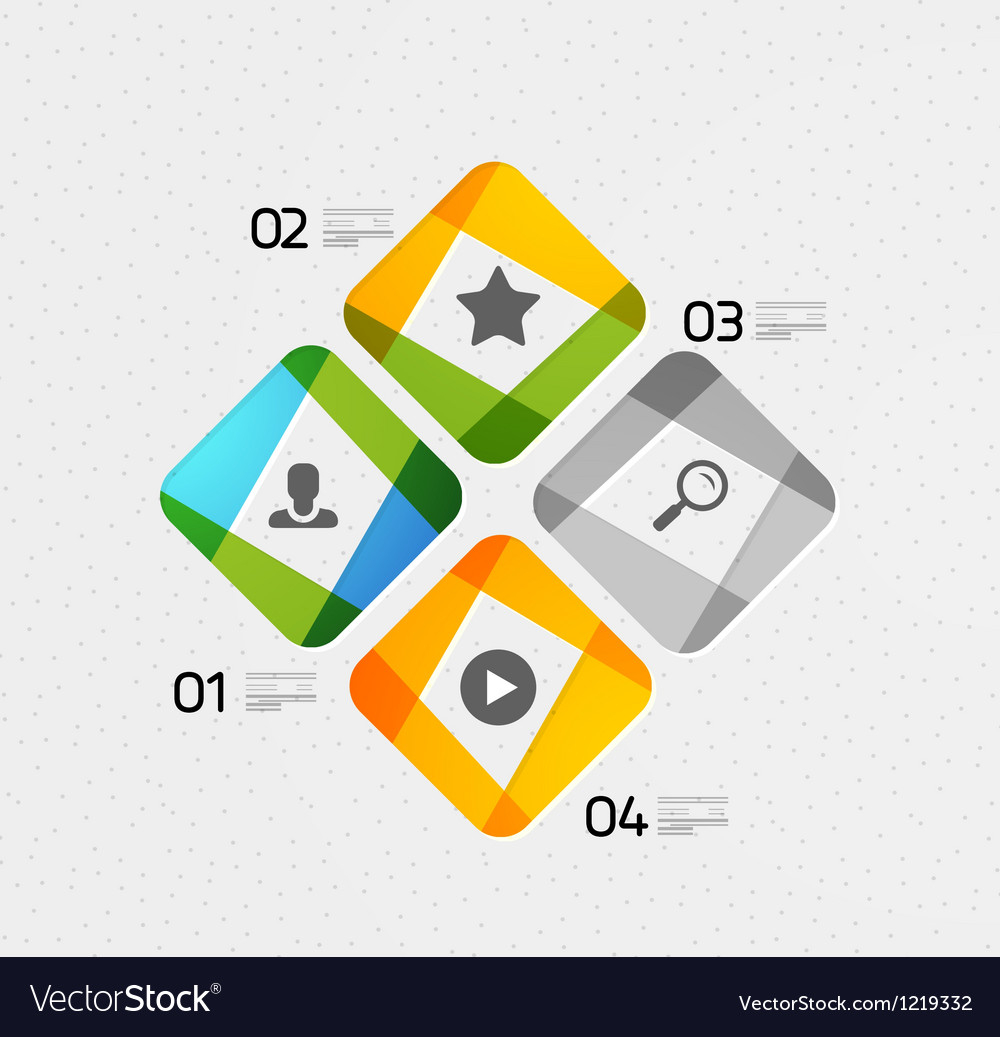 Modern colorful geometrical infographic vector