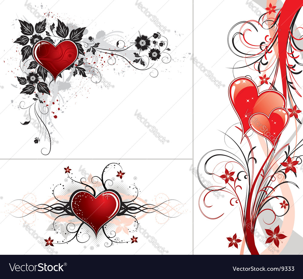 Background heart vector