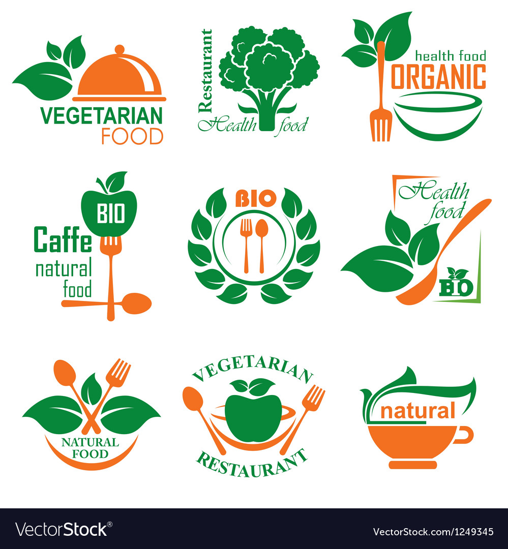 Health food label vector