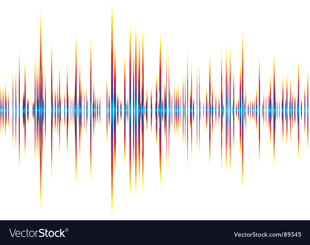 Sound wave background vector