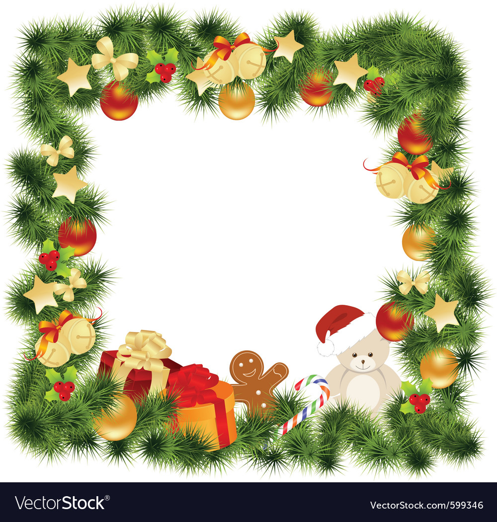 Christmas card border vector by Nete - Image #599346 - VectorStock