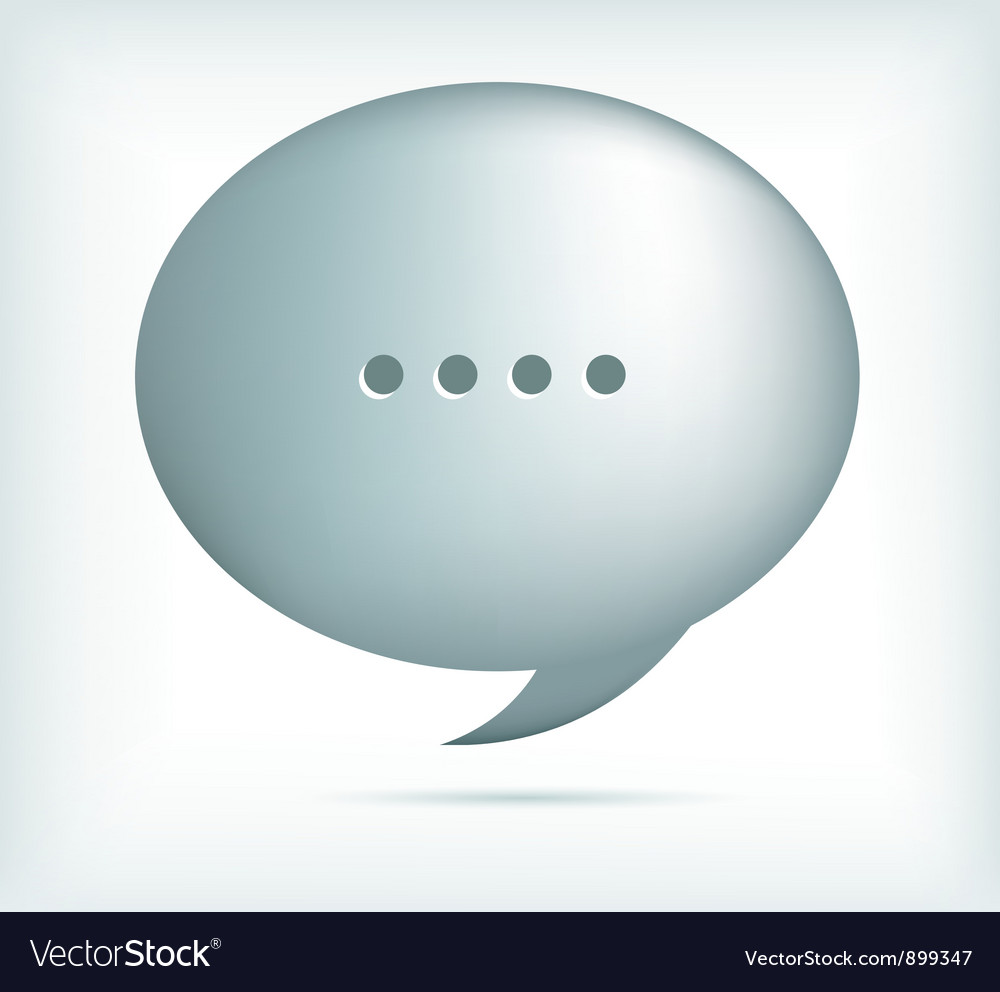 Silver speech bubbles vector