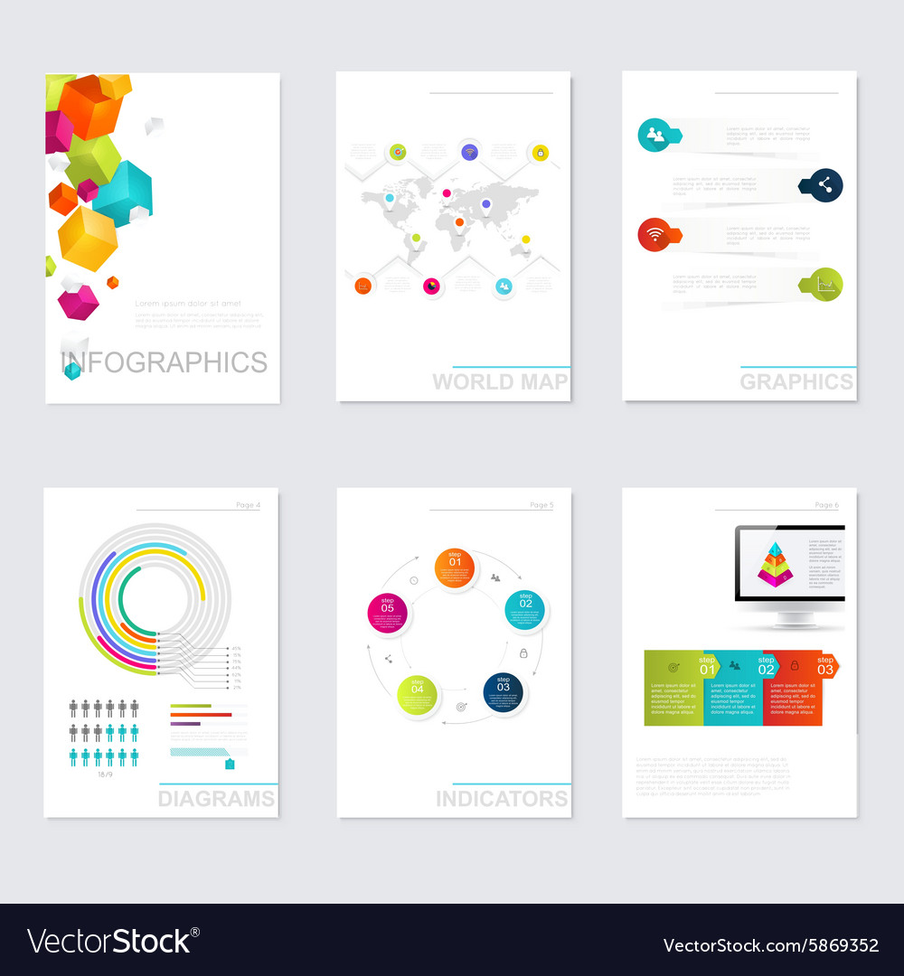 Set of timeline infographic design templates vector by Lesia_G ...