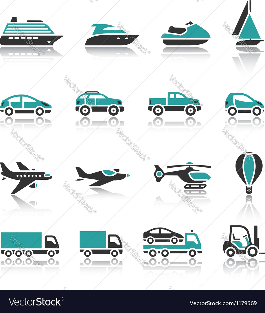 Set of transport icons  one vector