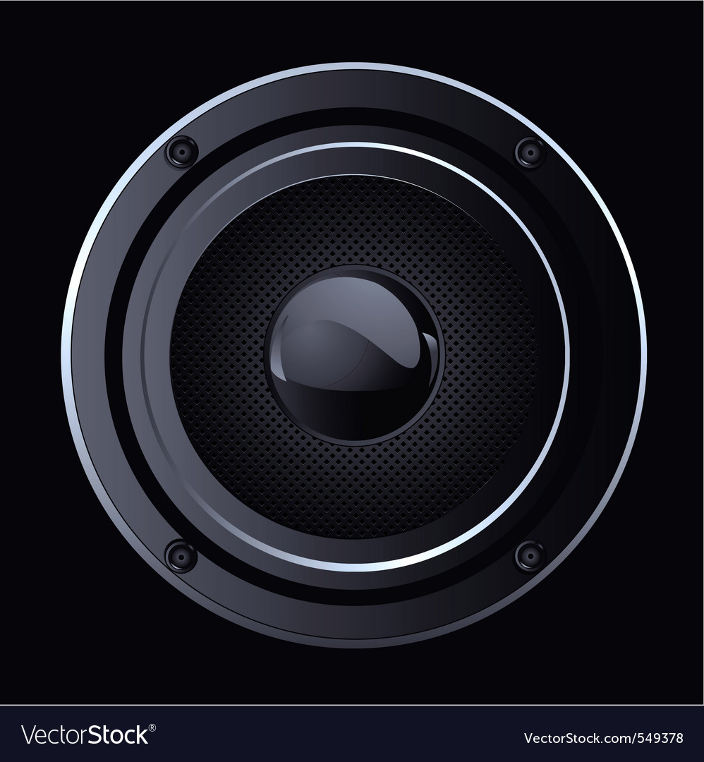 Of black sound speaker vector