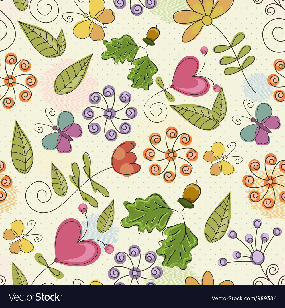 Free seamless paisley pattern vector