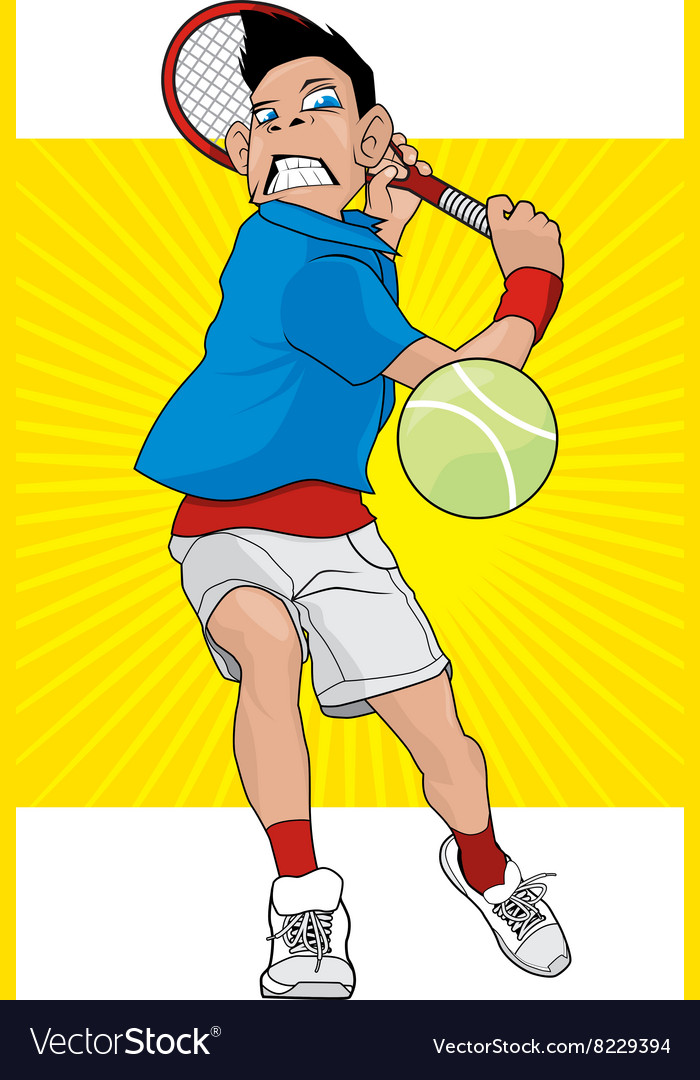 Angry tennis player