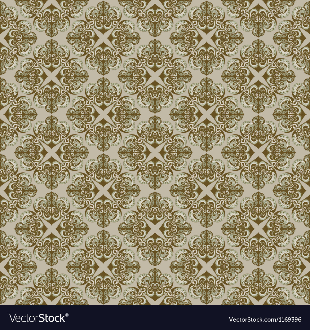 Brown pattern in gothic style vector