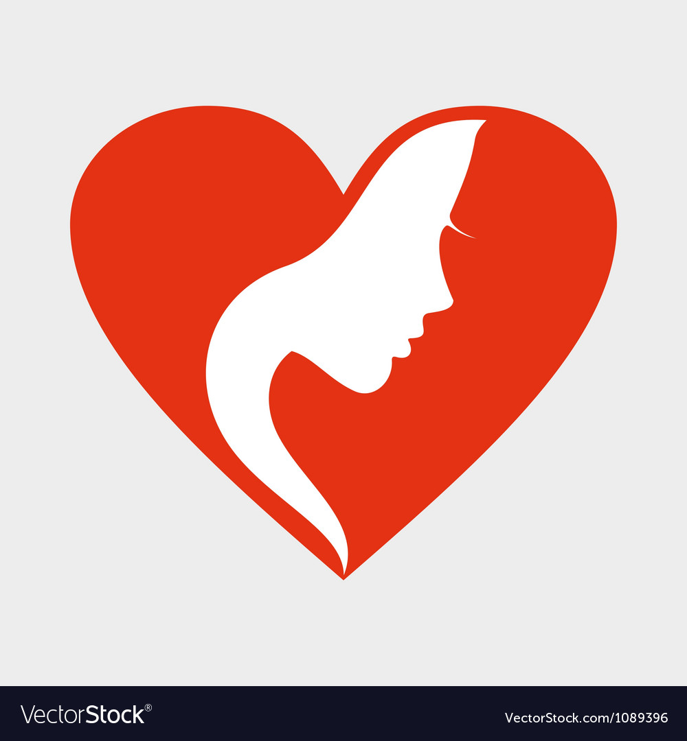 Girl heart vector