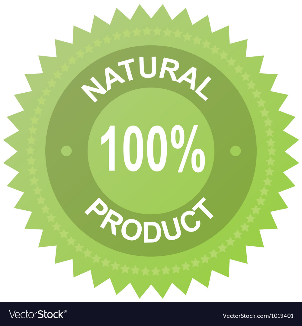 Label  100 natural product vector