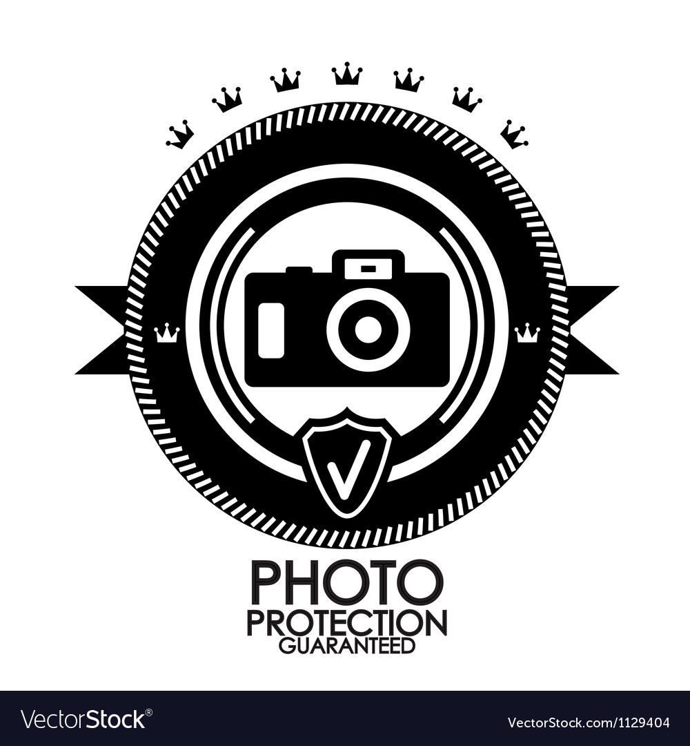 Black retro vintage label tag badge photo vector
