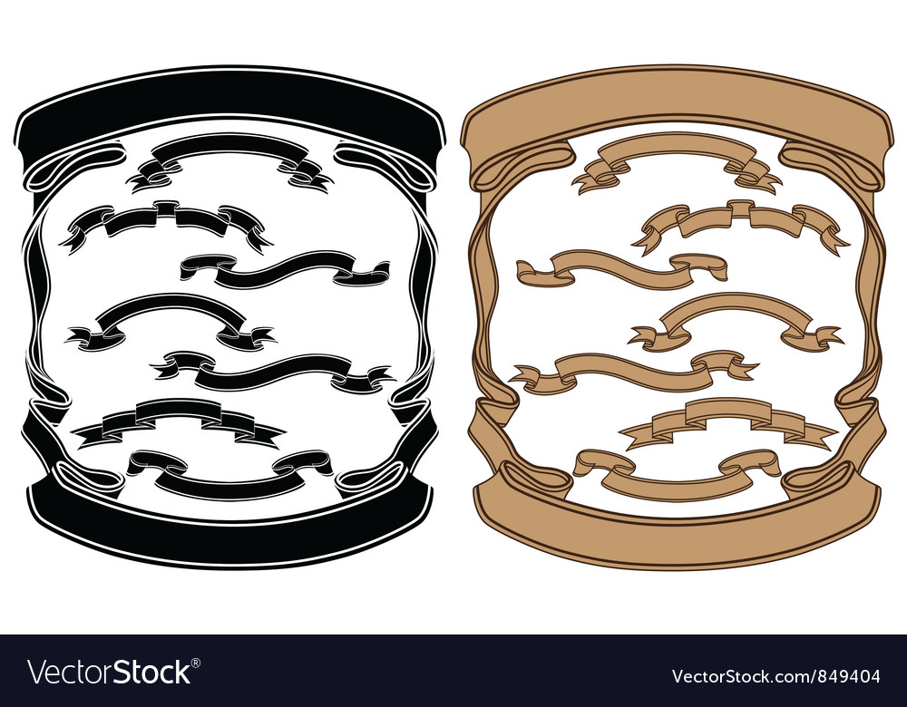 Isolated image of a ribbons vector