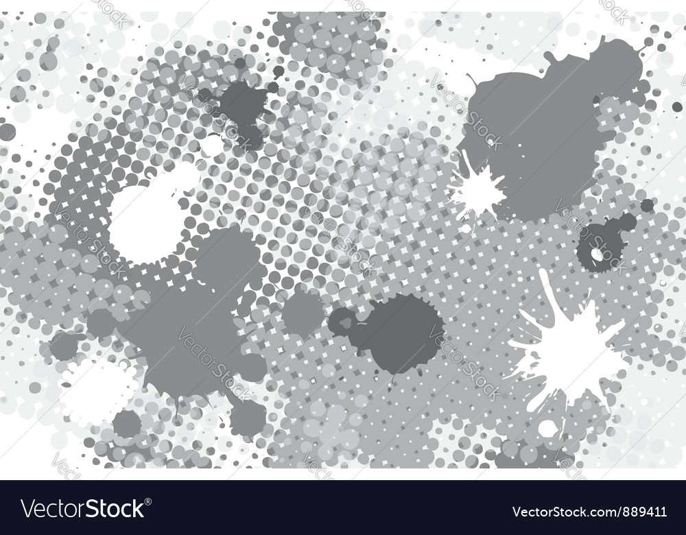 Halftone spot grunge background vector