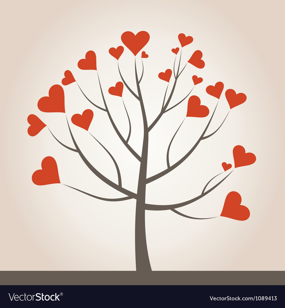 Love tree3 vector