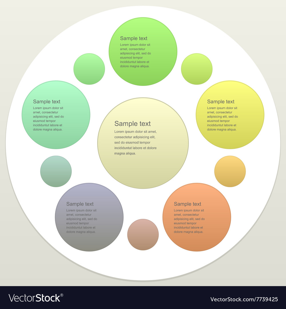 Five piece business infographics template
