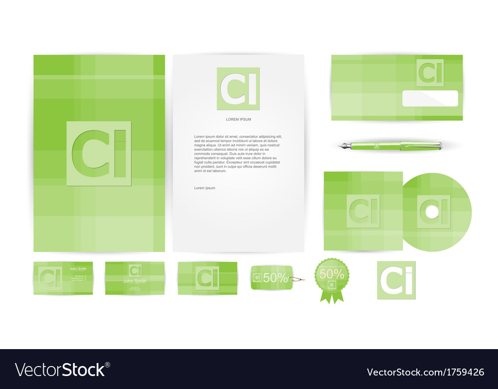 Corporate identity templates in vector