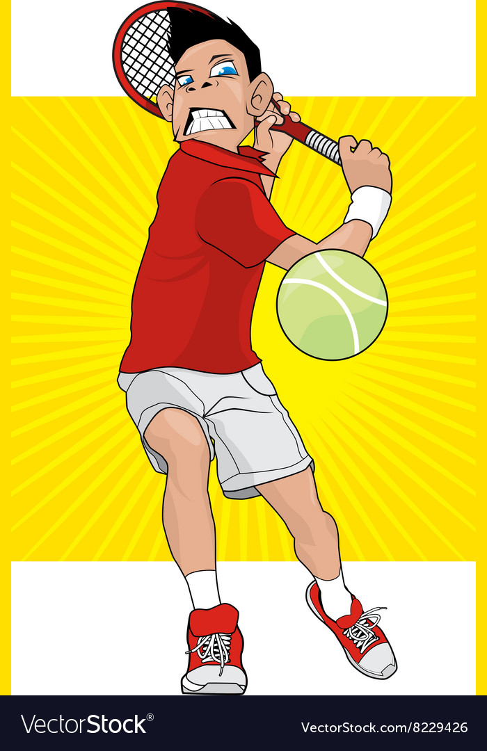 Mad tennis player