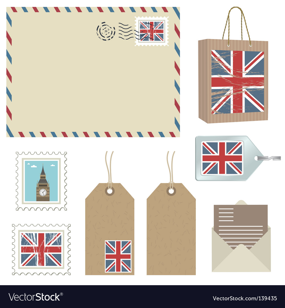 British postage vector