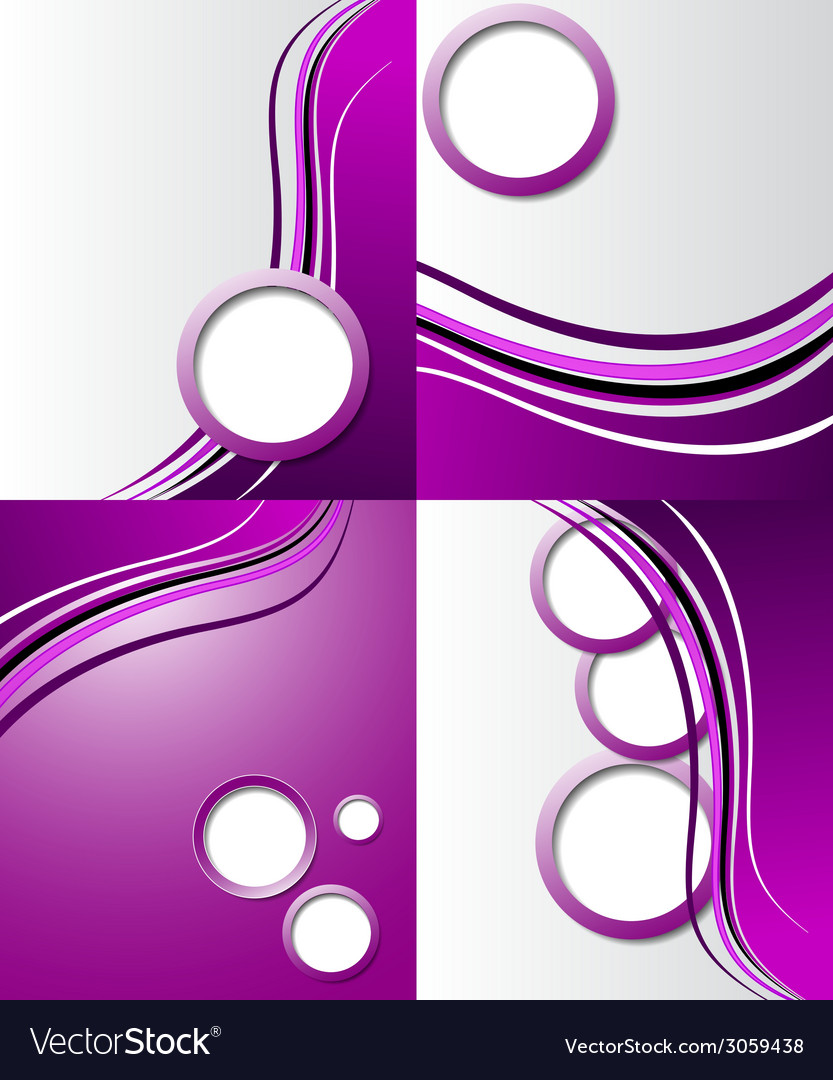 Set of elegant abstract purple background with for