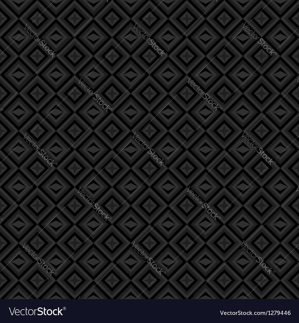 Black and gray background with diamonds vector
