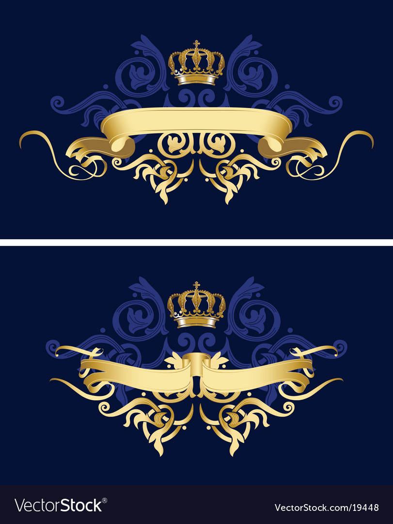 Ribbon design vector