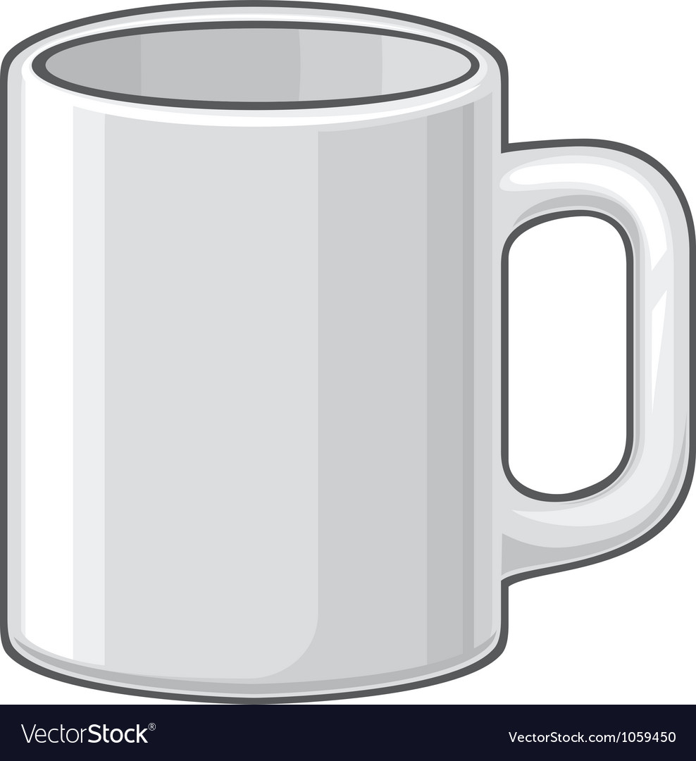 Coffee mug  white cup vector