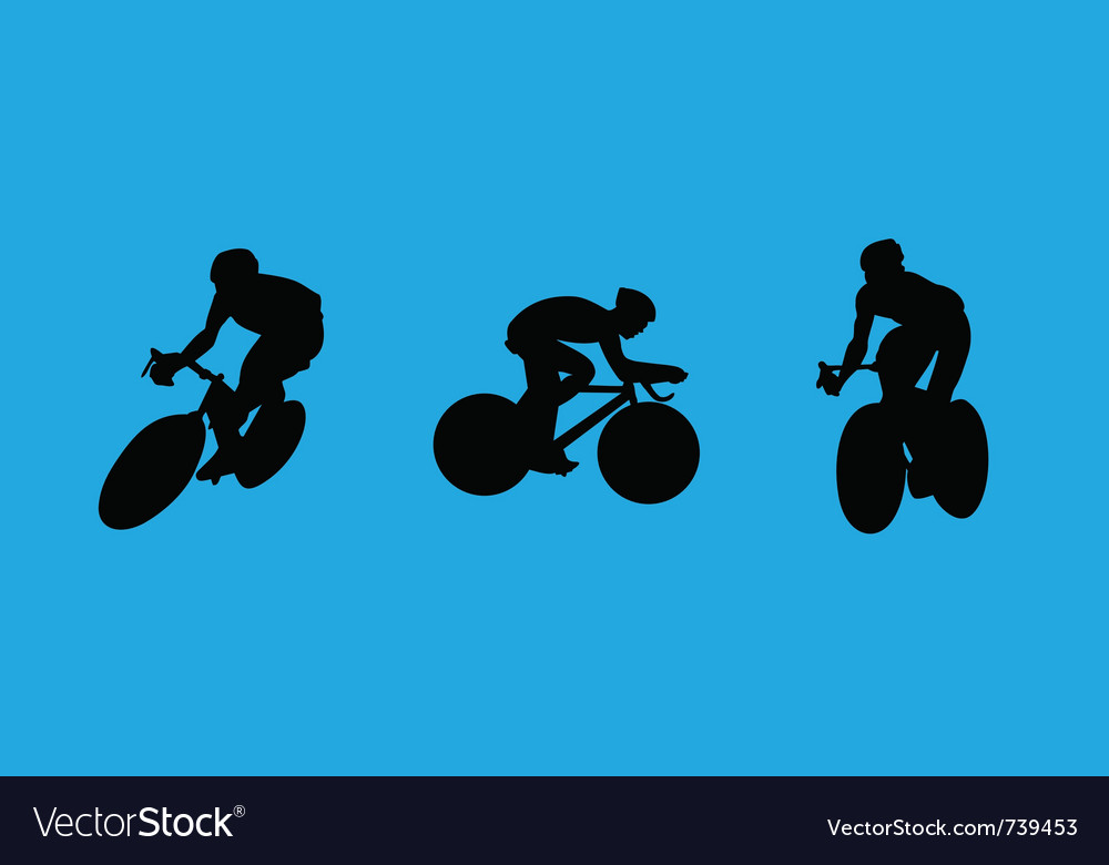 Bicyclist collection vector