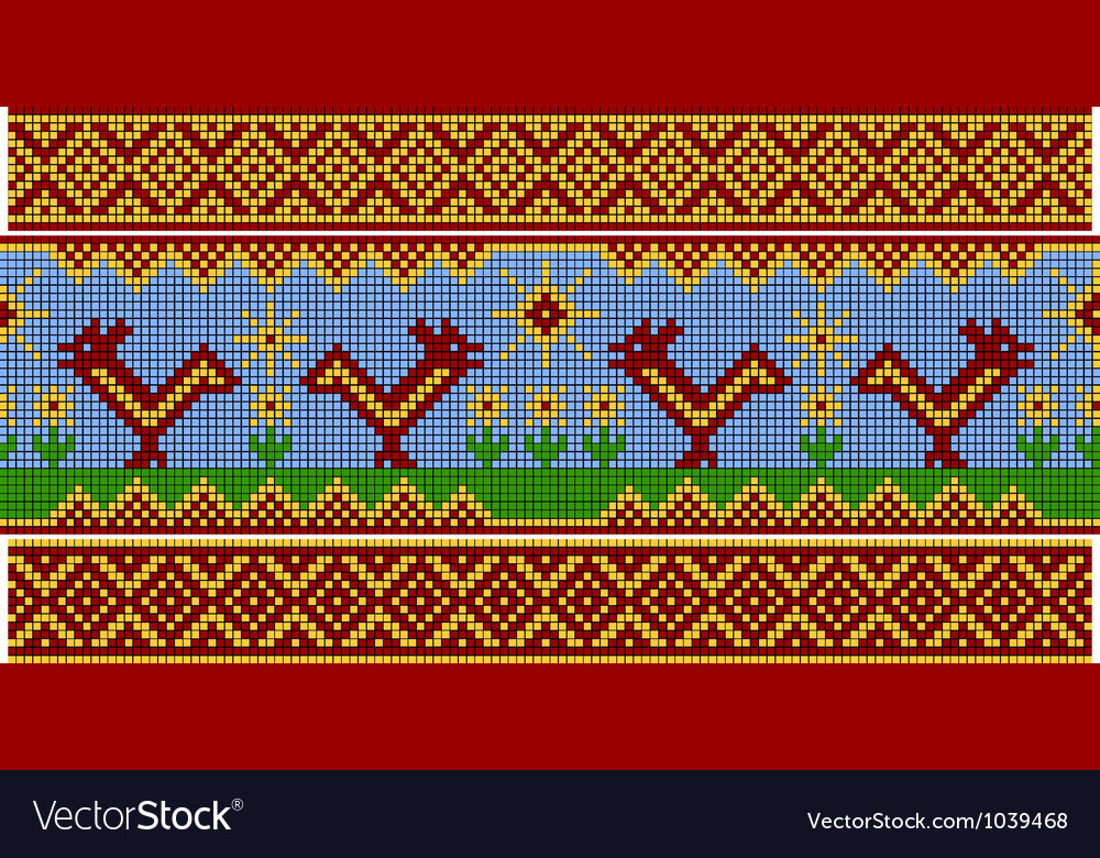 Russian pattern set vector