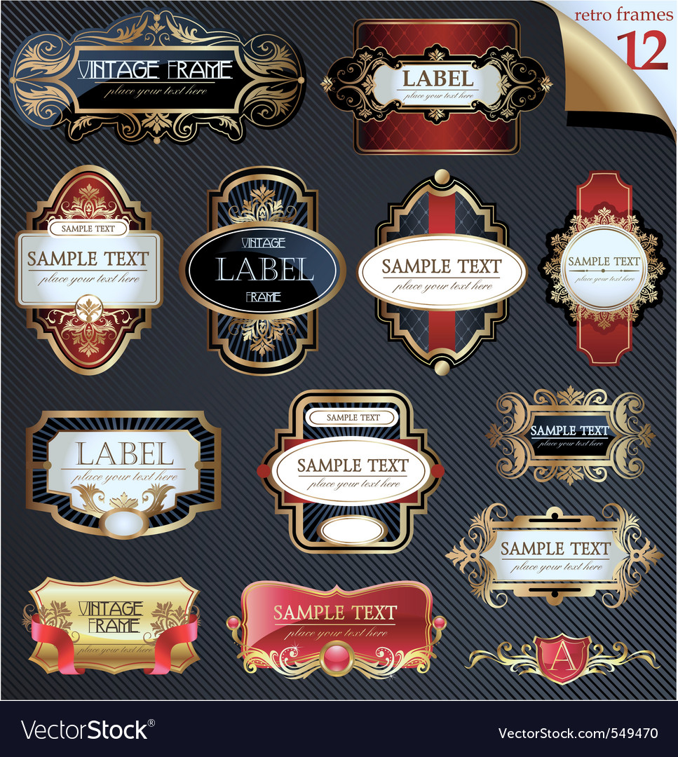 Frames and labels vector