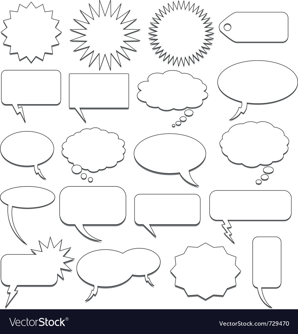 Speech bubble collection vector
