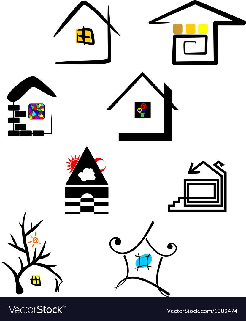 Дом логотип вектор Вектор | Скачать - Freepik