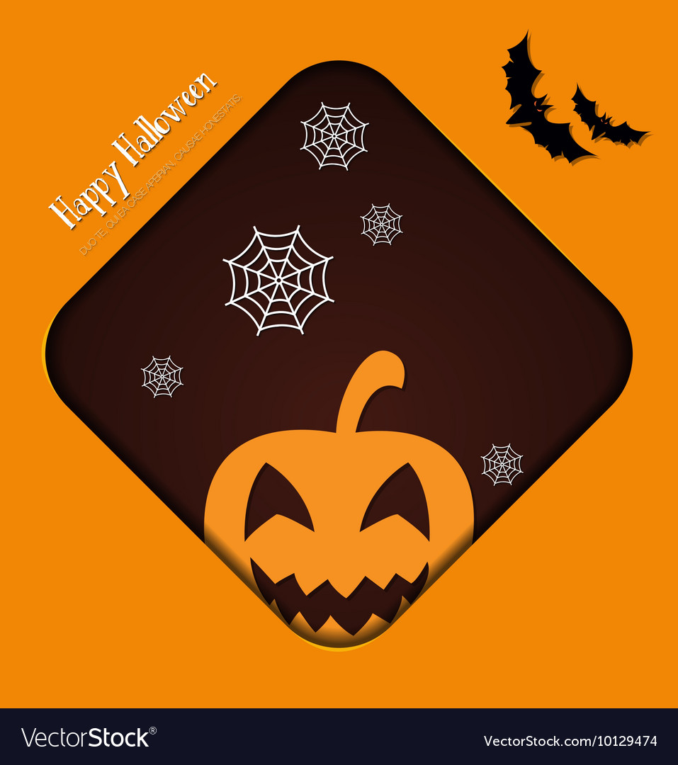 With halloween and halloween symbol