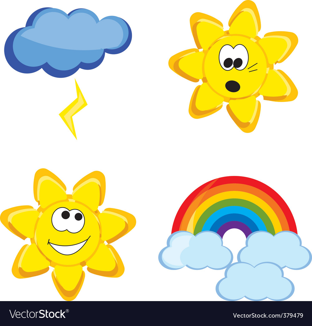 Weather Cartoon Vector By Lillia Image 379479 VectorStock