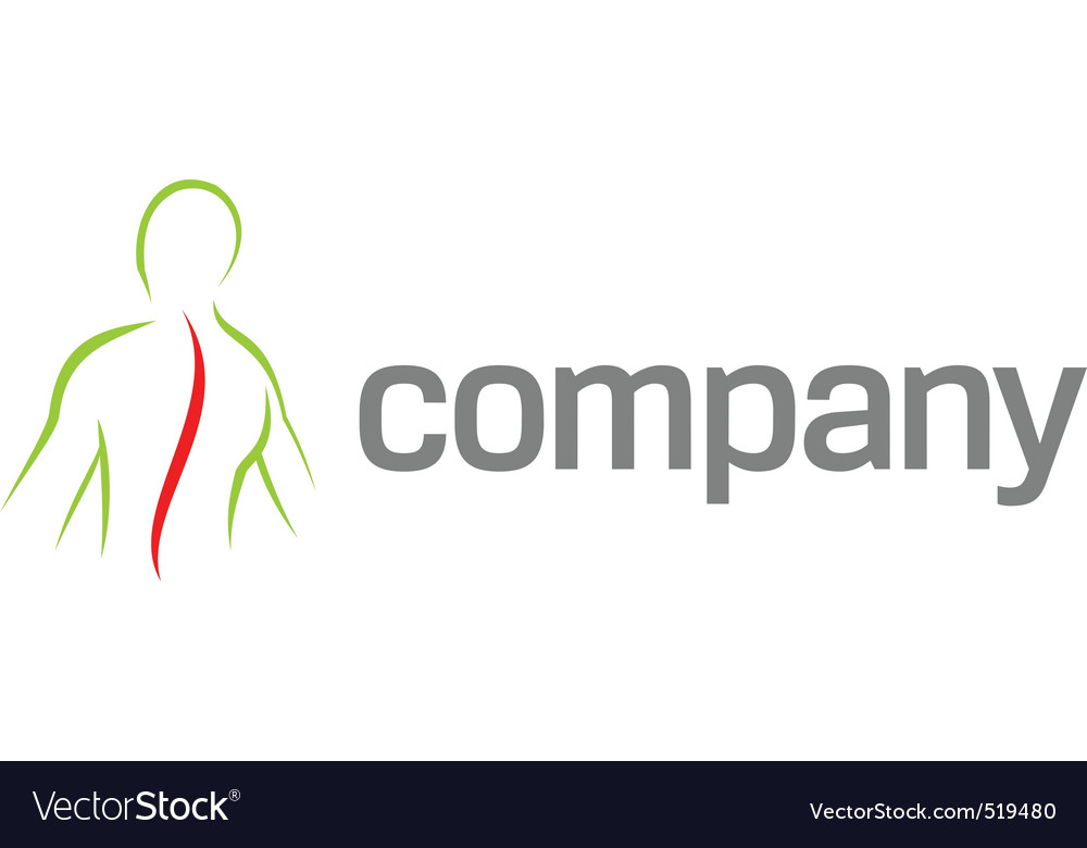 Pain in back logo vector