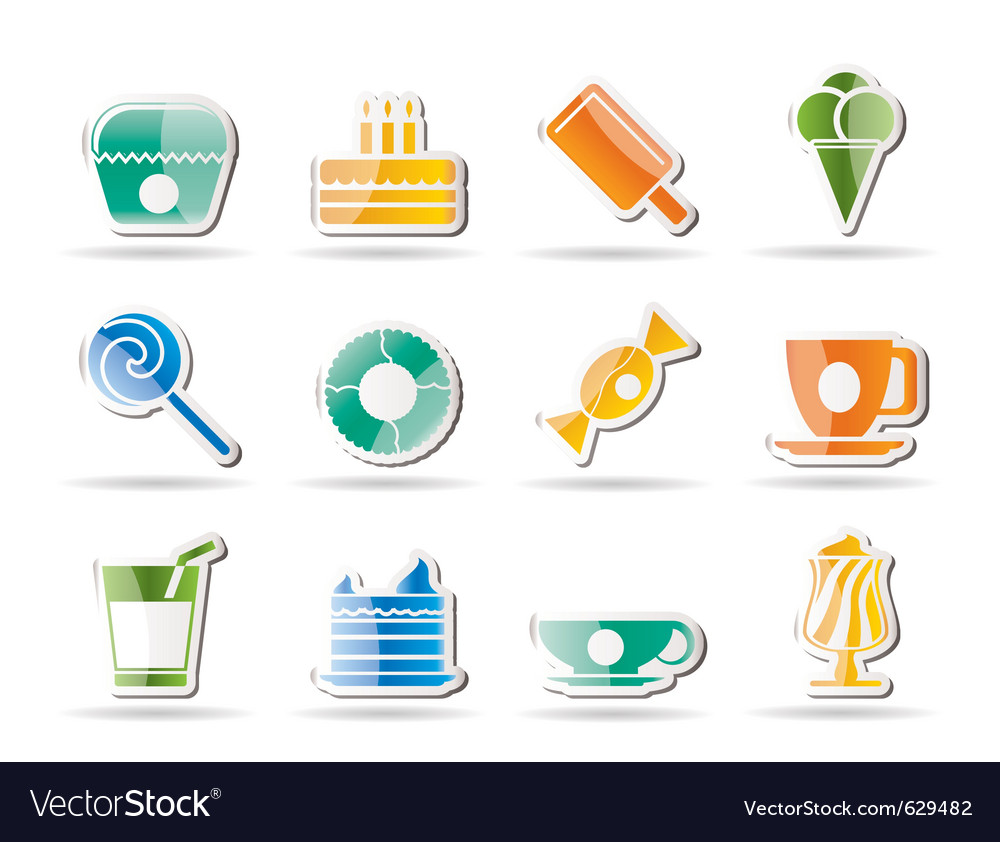 Sweet food and confectionery vector