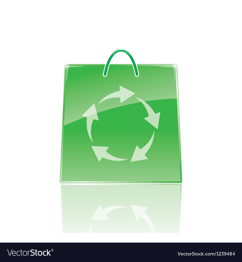 Bag for shopping vector