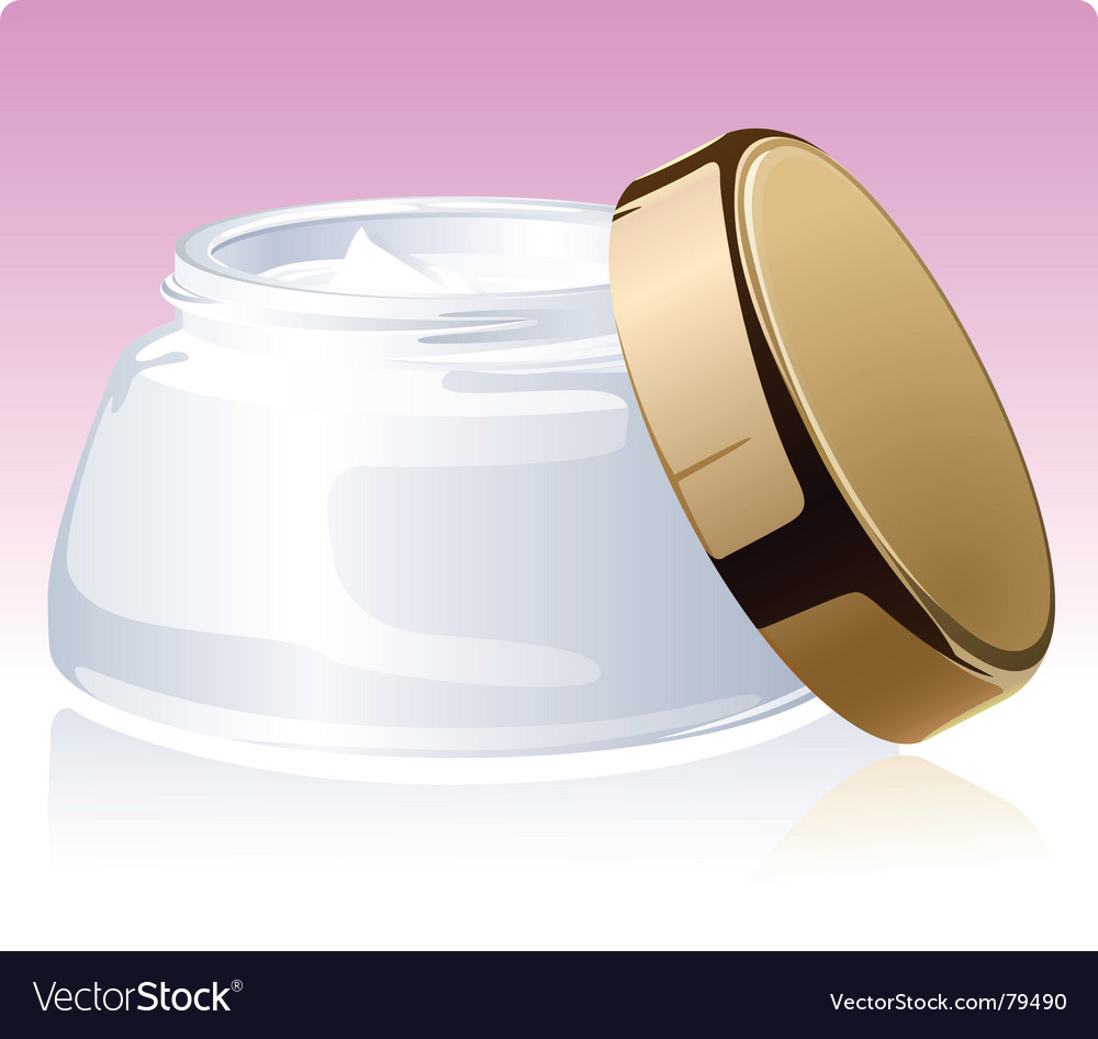Jar of a cosmetic cream vector