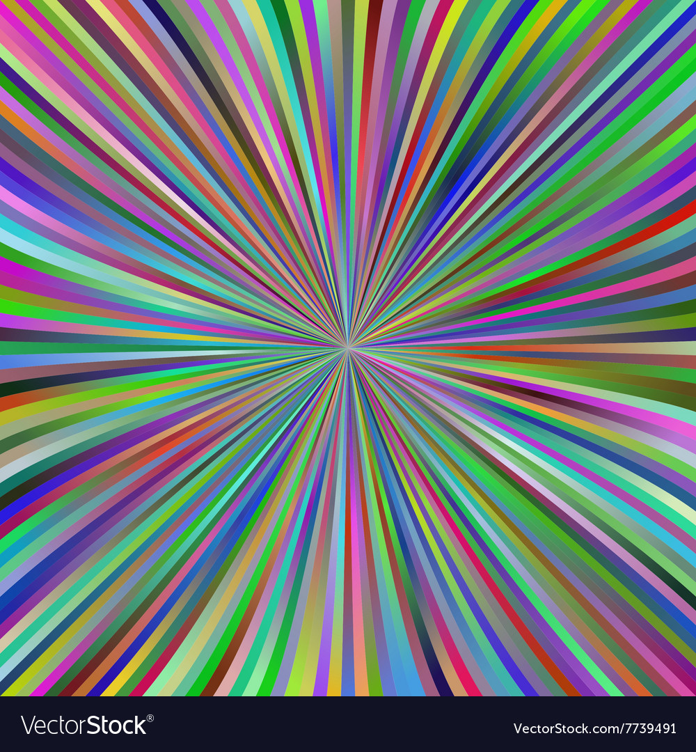 Multicolor gradient ray burst background design
