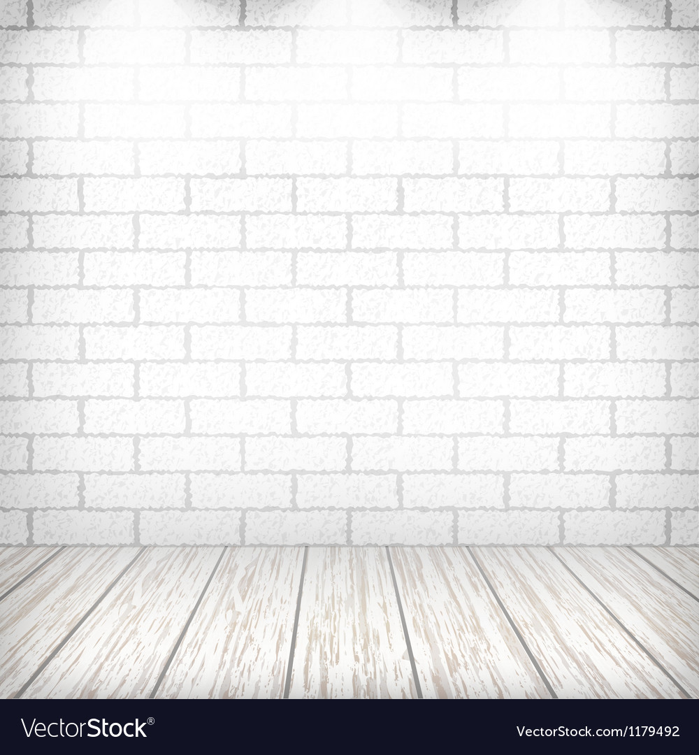 White brick wall vector